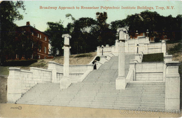 Broadway Approach To Rensselaer Polytechnic Institute Buildings