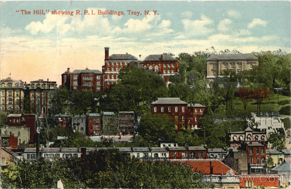The Hill Showing R.P.I Buildings