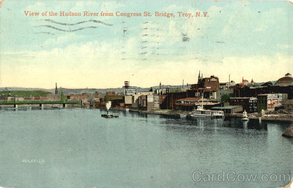 View Of The Hudson River From Congress St. Bridge
