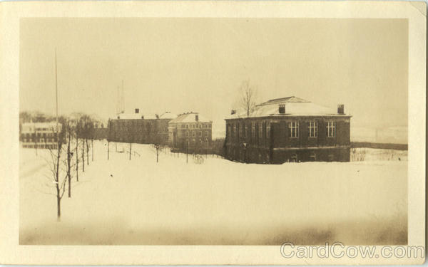 Ricketts, Gym & Field in Winter