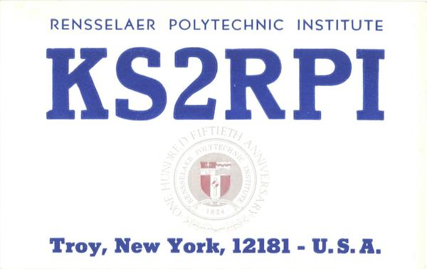 KS2RPI Amateur Radio Club QSL