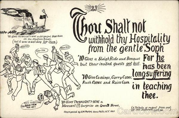 Thou Shalt Not Withhold thy Hospitality