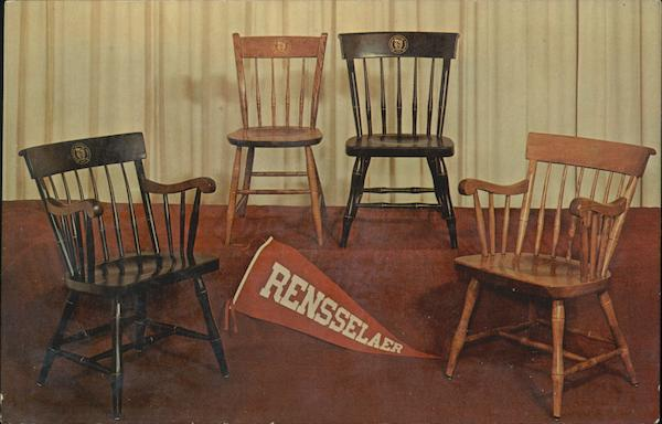 Rensselaer Union Bookstore Chairs with RPI Seal