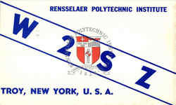 W2SZ Rensselaer Polytechnic Institute QSL