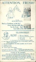 Attention, Frosh! Ten Commandments 1912