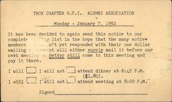 RPI Alumni Association 1952