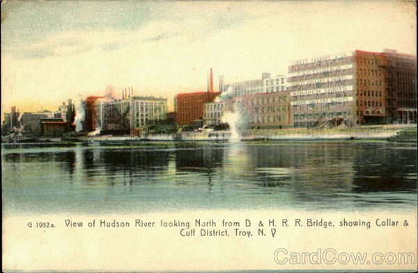 View Of Hudson River Looking North From D & H.R. R. Bridge, Showing Coller & Cuff District
