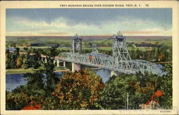 Troy Menands Bridge Over Hudson River