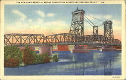 The New Dunn Memorial Bridge Connecting Albany And Rensselaer