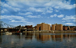 View of Troy, N.Y. from the west bank of the Hudson River