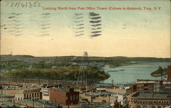 Looking North from Post Offcie Tower (Cohoes in distance)