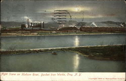 Night Scene on Hudson River, Burden Iron Works