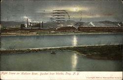 Night Scene on Hudson River, Burden Iron Works