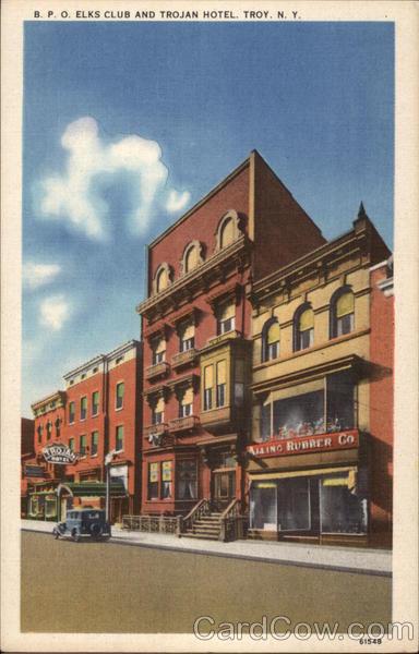 B. P. O. Elks Club and Trojan Hotel