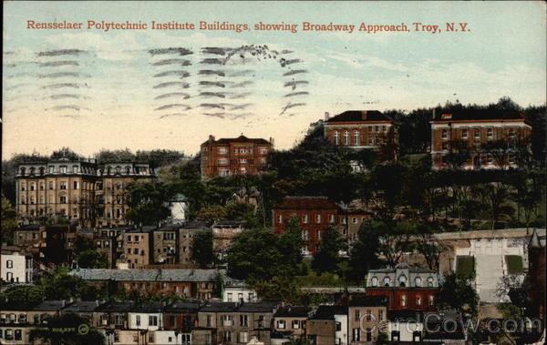 Rensselaer Polytechnic Institute Buildings, Showing Broadway Approach