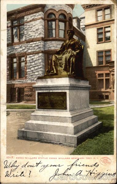 Emma Willard Statue, Emma Willard Seminary