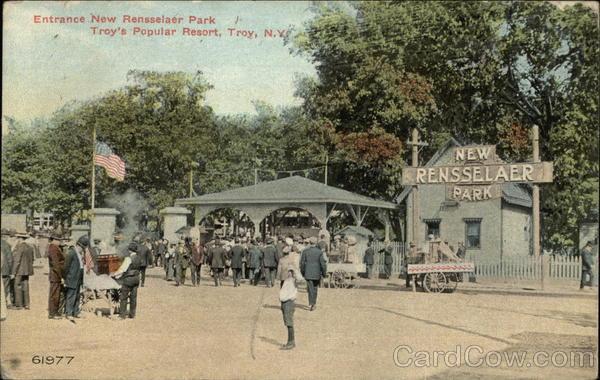 Entrance New Rensselaer Park - Troy's Popular Resort