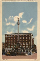 Monument Square Showing Hendrick Hudson Hotel on Broadway