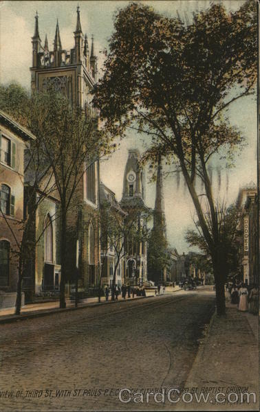 Third Street - St. Paul's P.E. Church, City Hall & Third St. Baptist Church