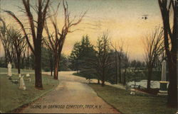 Scene in Oakwood Cemetery