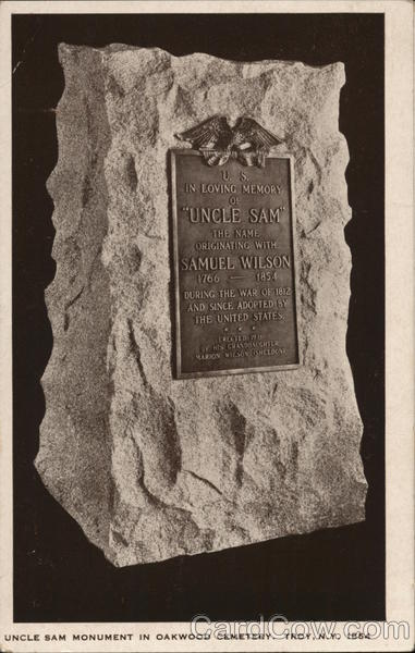 Uncle Sam Monument in Oakwood Cemetery, 1854