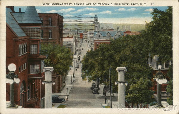 View Looking West, Rensselaer Polytechnic Institute