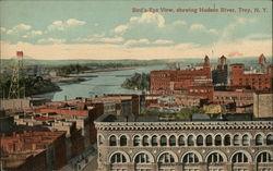 Bird's Eye View Showing Hudson River