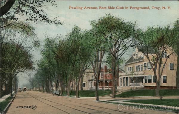 Pawling Avenue, East Side Club in Foreground