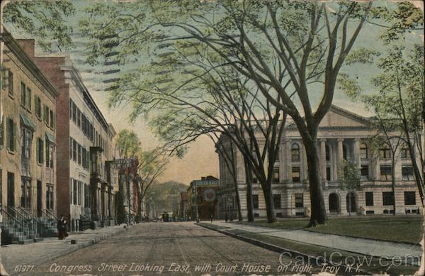 Congress Street Looking East with Court House on Right