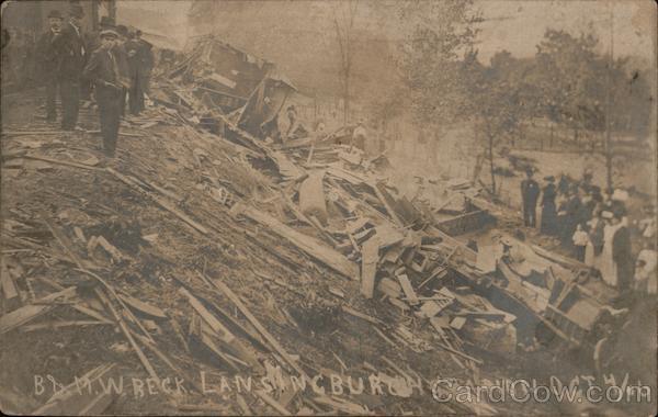 B&M Train Wreck, Lansingburgh Station October 4, 1906