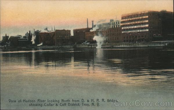 View of Hudson River Looking North From D & H R.R. Bridge
