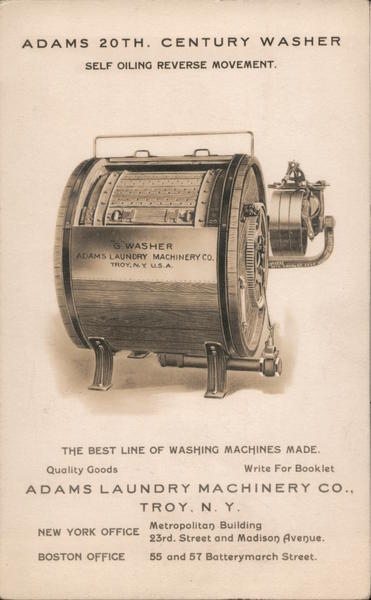Adams 20th Century Washer - Self Oiling Reverse Movement